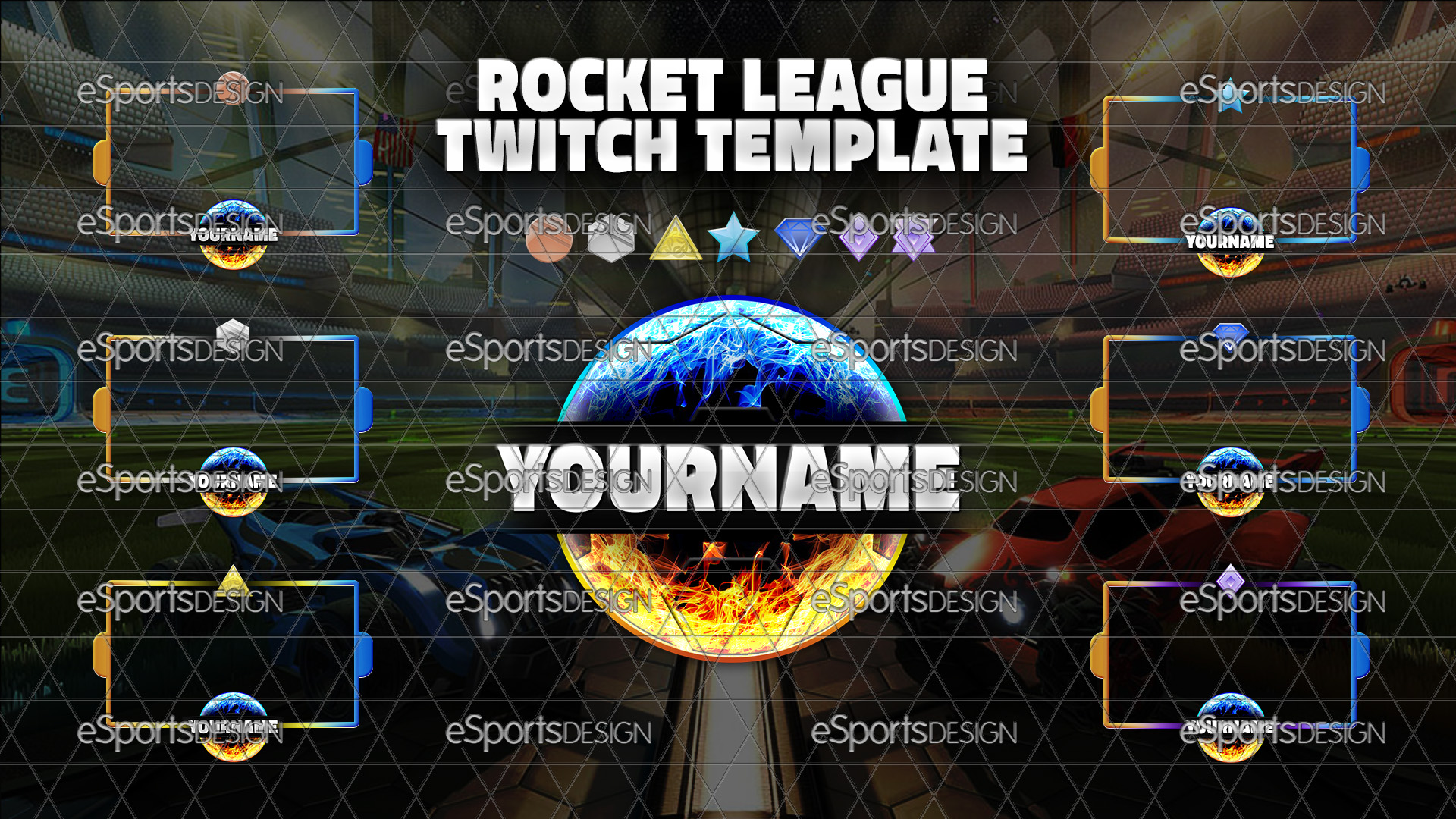 Rocket League Twitch Stream Template Package Esportsdesign